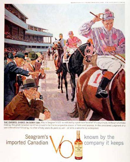 Seagrams Imported Canadian 1959 Horse Race | Vintage Ad and Cover Art 1891-1970