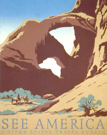 See America United States Travel Bureau | Vintage Travel Posters 1891-1970