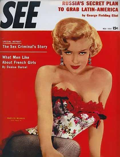 See Magazine Cover 1954 Marilyn Monroe Sex Appeal | Sex Appeal Vintage Ads and Covers 1891-1970