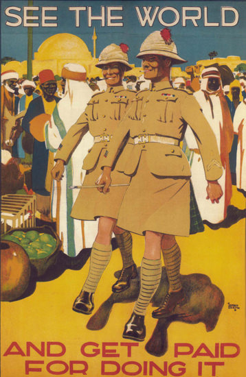 See The World And Get Paid For Doing It UK | Vintage War Propaganda Posters 1891-1970