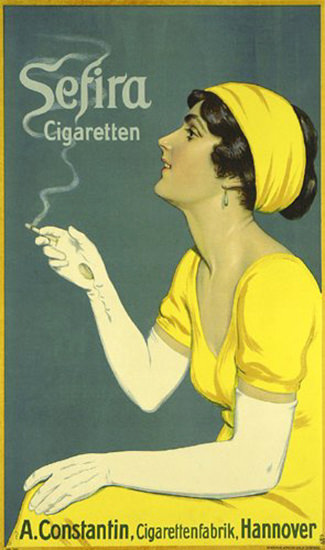 Sefira Cigarettes Constantin Hannover 1912   Sex Appeal Vintage Ads and Covers 1891-1970