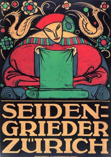 Seiden-Grieder Zuerich Switzerland Schweiz | Vintage Ad and Cover Art 1891-1970
