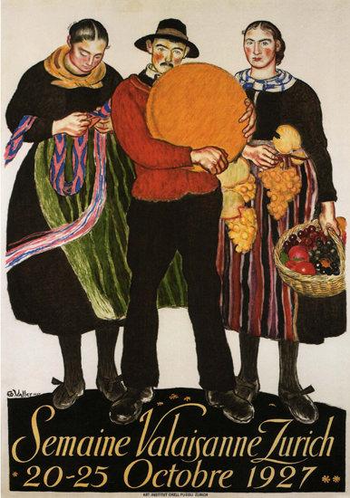 Semaine Valaisanne Zurich 1927 Switzerland   Vintage Ad and Cover Art 1891-1970
