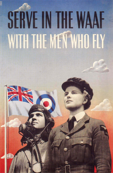 Serve In The Waaf With The Men Who Fly UK | Vintage War Propaganda Posters 1891-1970