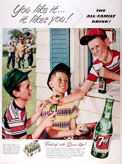 Seven-Up 1953 7up It Likes You | Vintage Ad and Cover Art 1891-1970