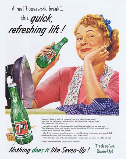 Seven-Up 1956 7up A Real Housework Break   Vintage Ad and Cover Art 1891-1970