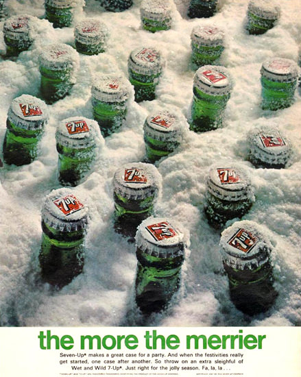 Seven-Up 7-Up Frozen More The Merrier 1967 | Vintage Ad and Cover Art 1891-1970