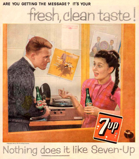 Seven-Up 7-Up Music Record 1959 | Sex Appeal Vintage Ads and Covers 1891-1970