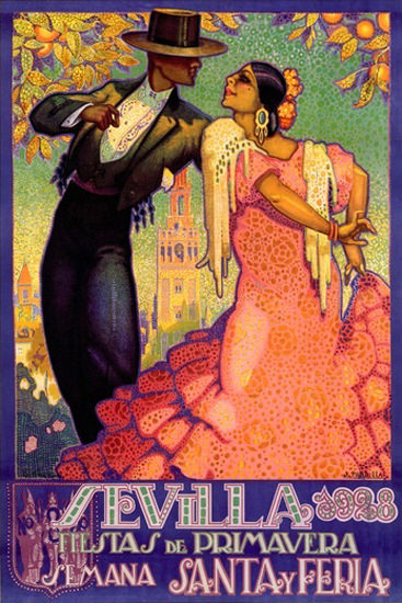Sevilla Fiesta De Primavera Santa Y Feria 1928 | Sex Appeal Vintage Ads and Covers 1891-1970
