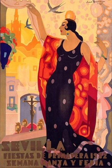 Sevilla Fiestas De Primavera 1932 J B De Fuentes | Sex Appeal Vintage Ads and Covers 1891-1970