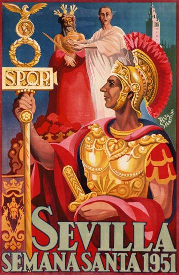 Sevilla Semana Santa 1951   Vintage Ad and Cover Art 1891-1970