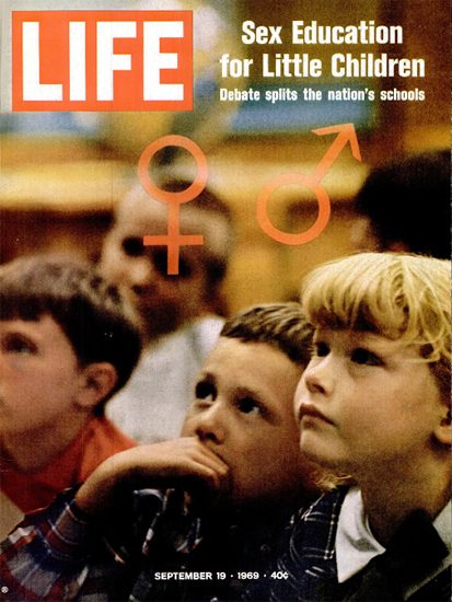 Sex Education for Little Children 19 Sep 1969 Copyright Life Magazine | Life Magazine Color Photo Covers 1937-1970