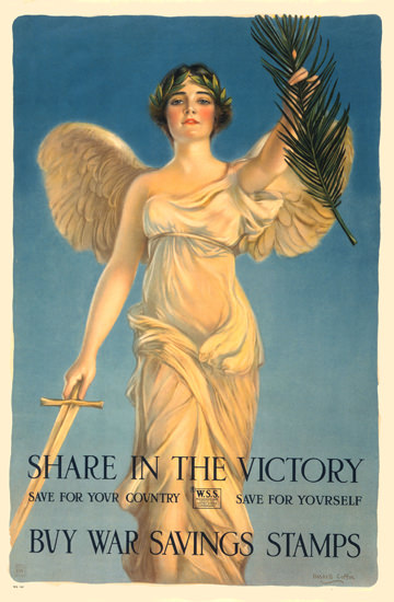 Share In The Victory War Savings Stamps | Vintage War Propaganda Posters 1891-1970