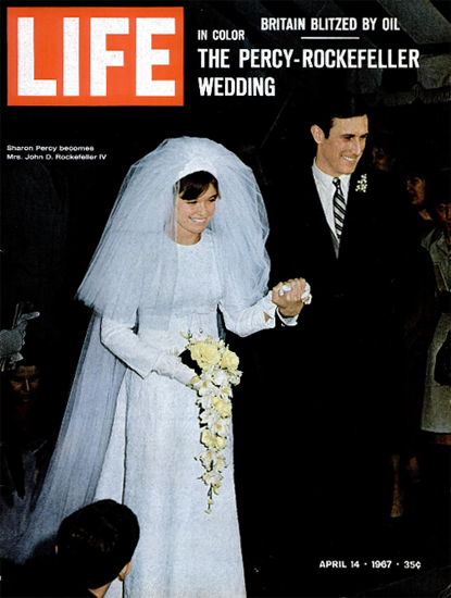 Sharon Perc and John D Rockefeller 14 Apr 1967 Copyright Life Magazine | Life Magazine Color Photo Covers 1937-1970