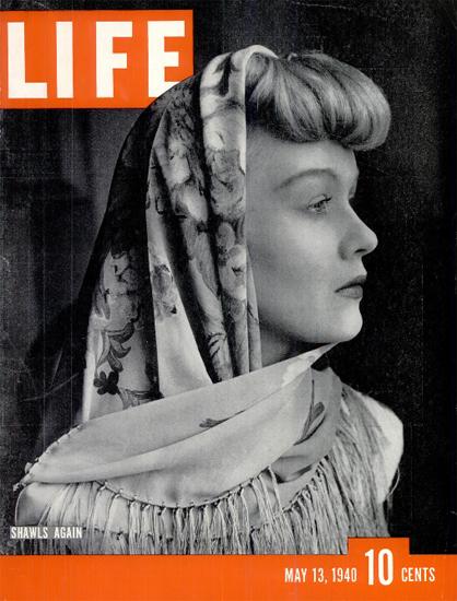 Shawls again 13 May 1940 Copyright Life Magazine   Life Magazine BW Photo Covers 1936-1970