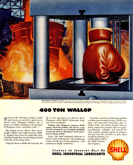 Shell 400 Ton Wallop 1948 | Vintage Ad and Cover Art 1891-1970