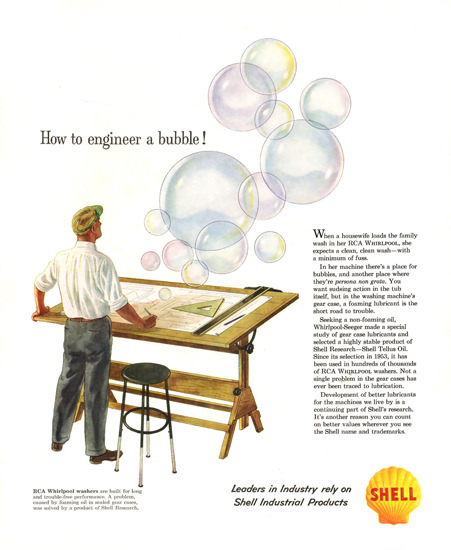 Shell Bubble RCA Whirlpool Washers | Vintage Ad and Cover Art 1891-1970