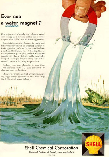 Shell Ever See  A Water Magnet 1959 | Vintage Ad and Cover Art 1891-1970