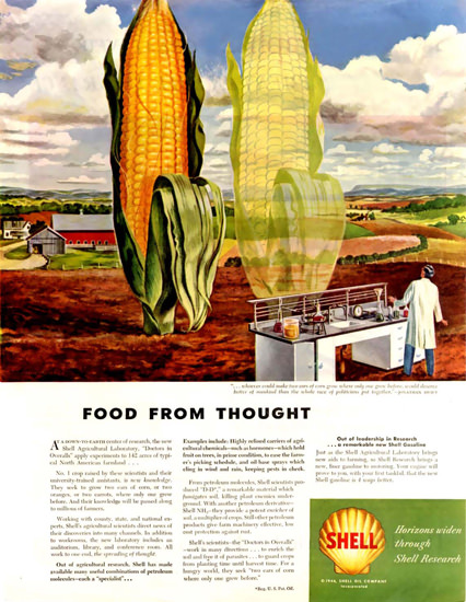 Shell Food From Thought 1956 Corn | Vintage Ad and Cover Art 1891-1970