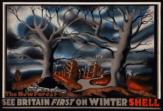 Shell New Forest See Britain First On Winter 1933 | Vintage Ad and Cover Art 1891-1970