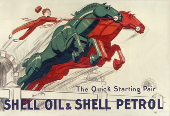 Shell Oil Shell Petrol The Quick Starting Pair 1930 | Vintage Ad and Cover Art 1891-1970