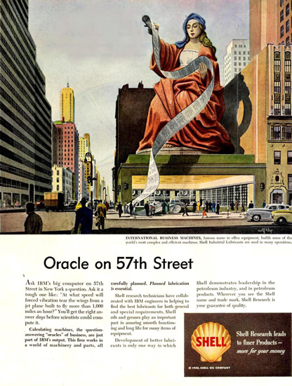 Shell Oracle On 57th Street 1950 | Vintage Ad and Cover Art 1891-1970