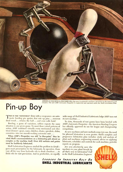 Shell Pin-Up Boy 1947 | Vintage Ad and Cover Art 1891-1970