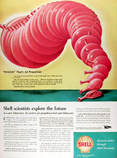 Shell Research 1945 Jet Propulsion Future | Vintage Ad and Cover Art 1891-1970