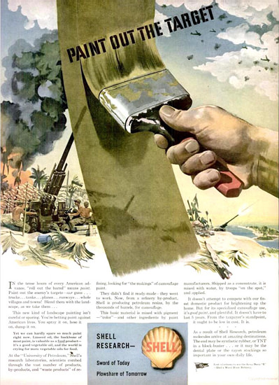 Shell Research Paint Out The Target 1944 | Vintage War Propaganda Posters 1891-1970