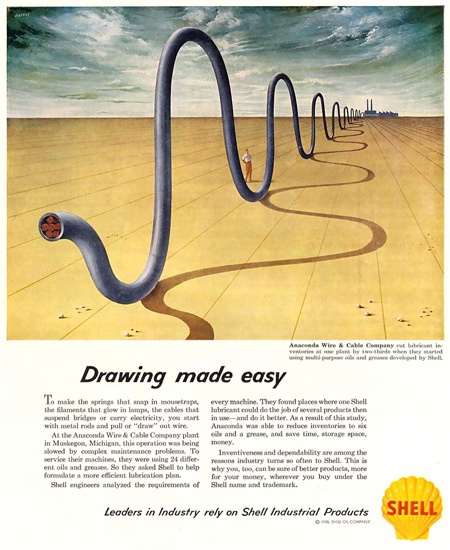 Shell Salvator Dali Style Wire And Cable Co 1958 | Vintage Ad and Cover Art 1891-1970