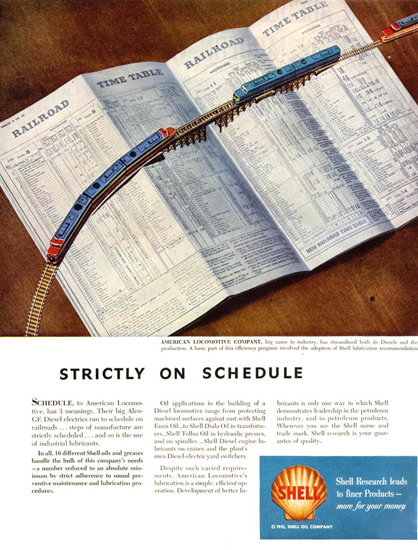 Shell Strictly On Schedule 1951 | Vintage Ad and Cover Art 1891-1970