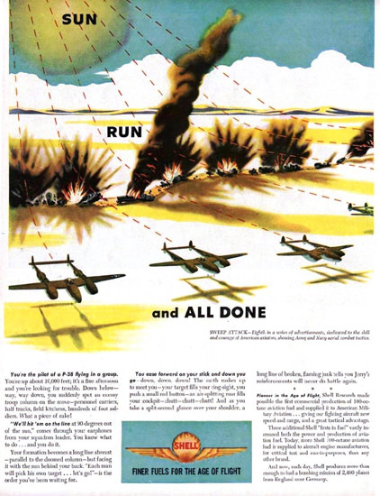 Shell Sun Run And All Done Age Of Flight 1944 | Vintage War Propaganda Posters 1891-1970