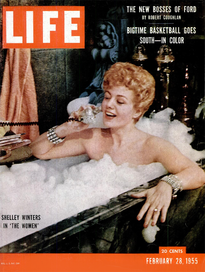 Shelley Winters in The Women 28 Feb 1955 Copyright Life Magazine | Life Magazine Color Photo Covers 1937-1970