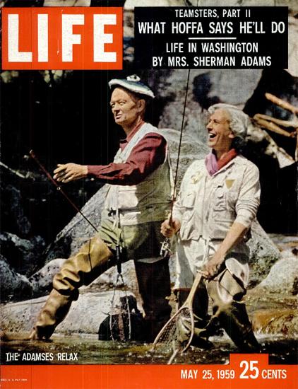 Sherman Adams Life in Washington 25 May 1959 Copyright Life Magazine | Life Magazine Color Photo Covers 1937-1970