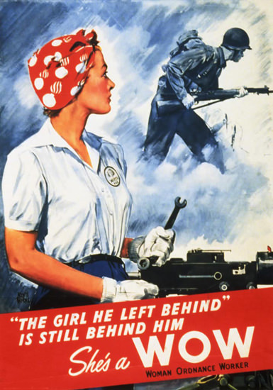 Shes A Wow The Girl He Left Still Behind Him | Vintage War Propaganda Posters 1891-1970