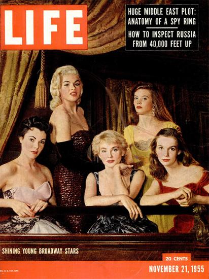 Shining young Broadway Stars 21 Nov 1955 Copyright Life Magazine | Life Magazine Color Photo Covers 1937-1970