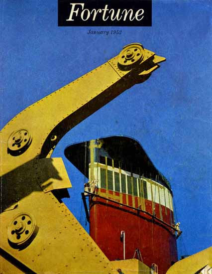 Shipping Fortune Magazine January 1952 Copyright | Fortune Magazine Graphic Art Covers 1930-1959