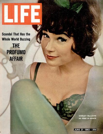 Shirley MacLaine as Irma La Douce 21 Jun 1963 Copyright Life Magazine   Life Magazine Color Photo Covers 1937-1970