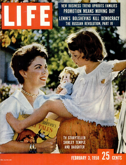 Shirley Temple and Daughter 3 Feb 1958 Copyright Life Magazine | Life Magazine Color Photo Covers 1937-1970