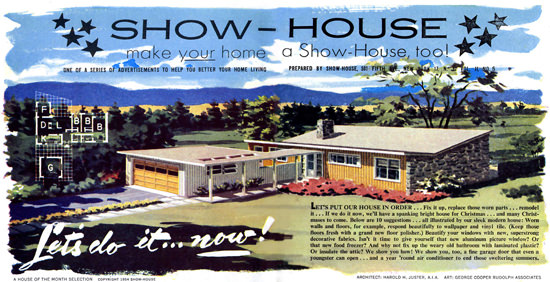 Show-House 1954 Harold H Juster AIA | Vintage Ad and Cover Art 1891-1970