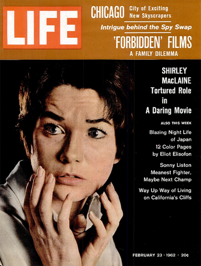 Shriley MacLaine in Childrens Hour 23 Feb 1962 Copyright Life Magazine | Life Magazine Color Photo Covers 1937-1970
