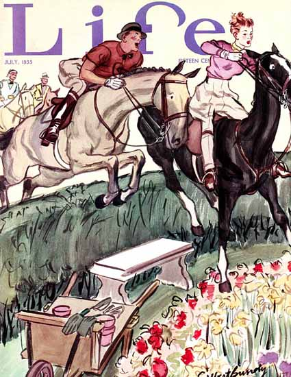 Sibbert Bundy Life Humor Magazine 1935-07 Copyright | Life Magazine Graphic Art Covers 1891-1936