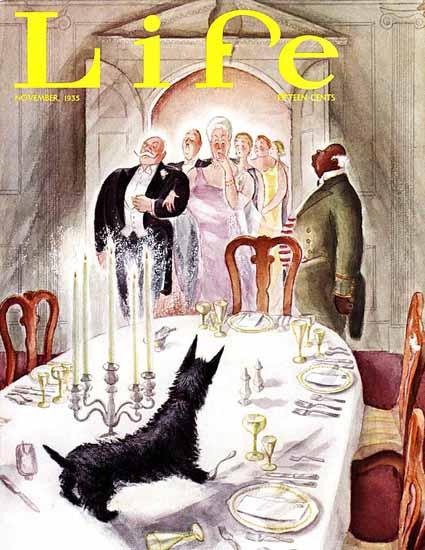 Sibbert Bundy Life Humor Magazine 1935-11 Copyright | Life Magazine Graphic Art Covers 1891-1936