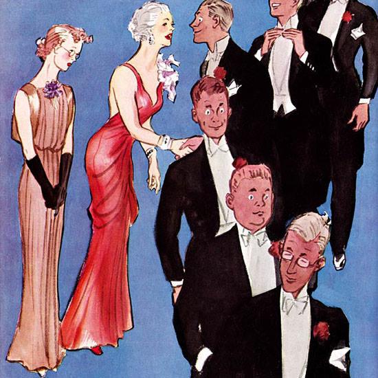 Sibbert Bundy Life Humor Magazine 1935-12 Copyright crop | Best of Vintage Cover Art 1900-1970