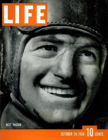 Sid Luckman Best Passer Football 24 Oct 1938 Copyright Life Magazine   Life Magazine BW Photo Covers 1936-1970