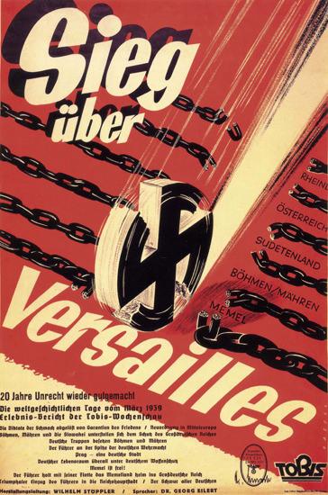 Sieg Ueber Versailles Wochenschau 1939 | Vintage War Propaganda Posters 1891-1970