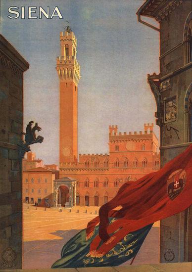 Siena Italy Italia | Vintage Travel Posters 1891-1970