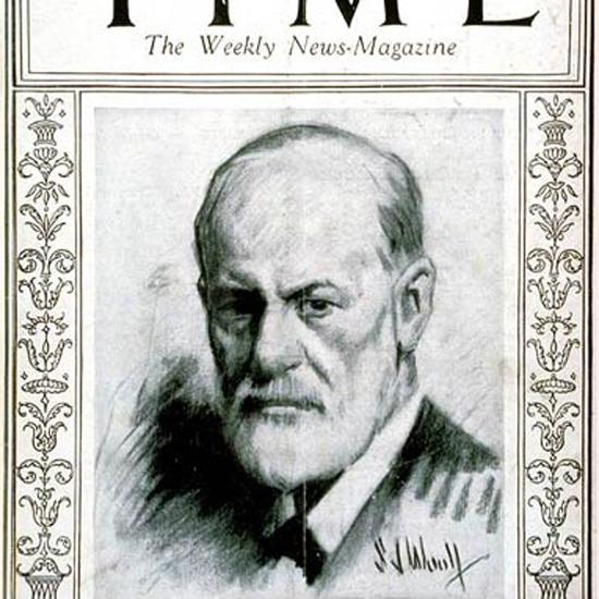 Sigmund Freud Time Magazine 1924-10 crop | Best of Vintage Cover Art 1900-1970