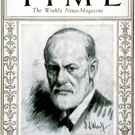 Sigmund Freud Time Magazine 1924-10 crop | Best of 1920s Ad and Cover Art