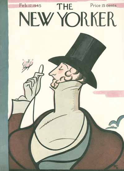 Signature Display Typeface of The New Yorker 1945_02_17 Copyright   The New Yorker Graphic Art Covers 1925-1945